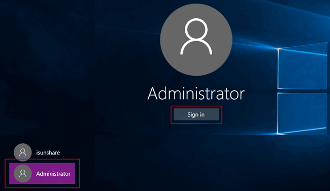 sign in lenovo thinkpad laptop with default administrator