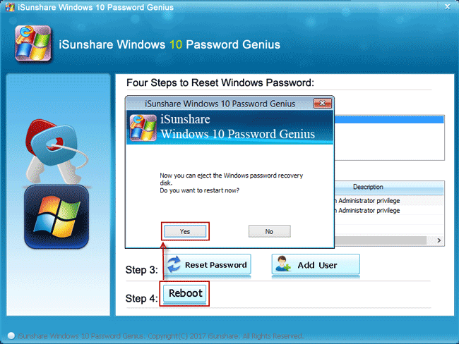 bypass lost password to reboot windows 10