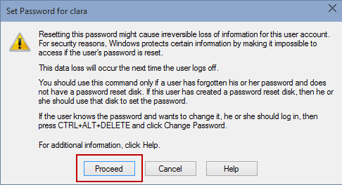 confirm windows 10 user password change