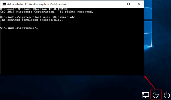change windows 10 administrator password with command prompt