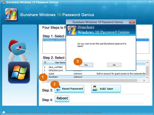 change asus laptop password