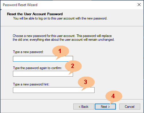 reset windows 10 administrator password with reset disk
