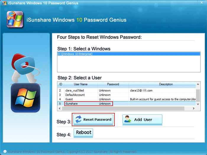 Reset Windows 10 Local Admin Password without Disk or USB