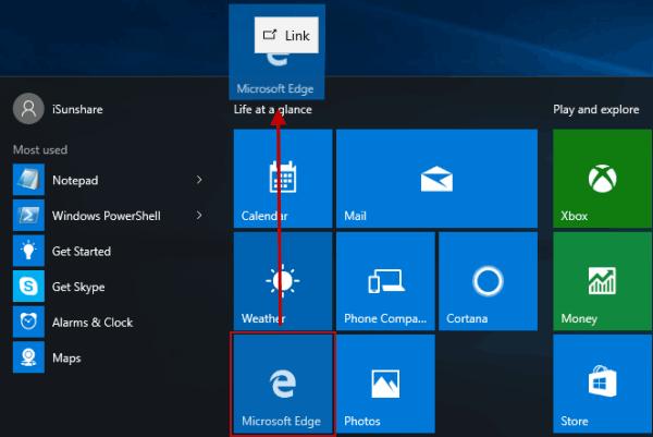 2 Ways to Add Microsoft Edge to Windows 10 Desktop