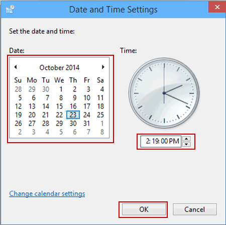 What date does the time change