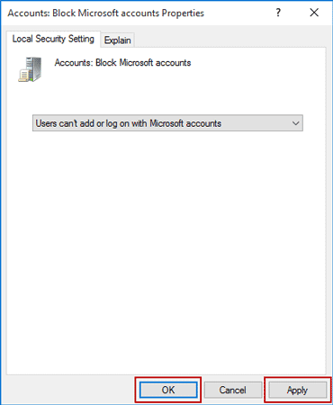 select not to add or log on with Microsoft account