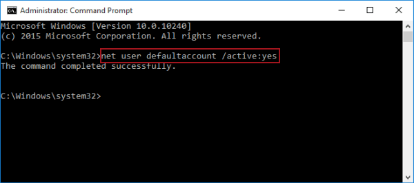 2 Ways to Enable or Disable Default Account in Windows 10