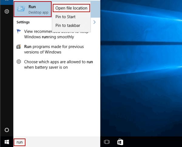 3 Ways to Create Run Shortcut on Windows 10 Desktop