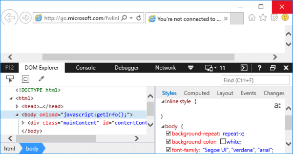 3 Ways to Open Developer Tools in IE on Windows 10