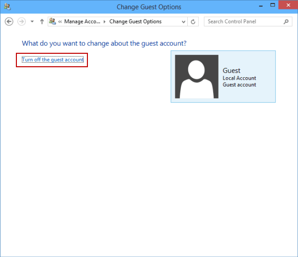 windows 10 activate guest account