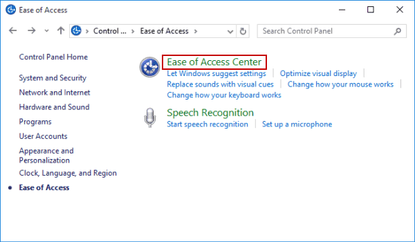 4 Ways to Open Ease of Access Center in Windows 10