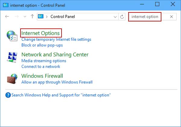 internet options lan settings shortcut