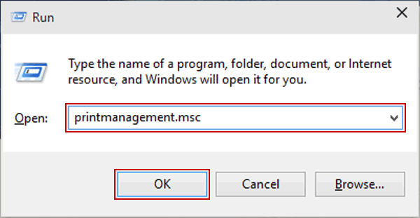 printmanagement.msc windows 10 missing
