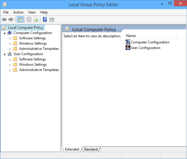 Windows 2000 group policy editor