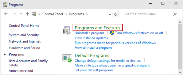 5 Ways to Open Programs and Features in Windows 10