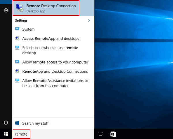 5 Ways to Open Remote Desktop Connection in Windows 10