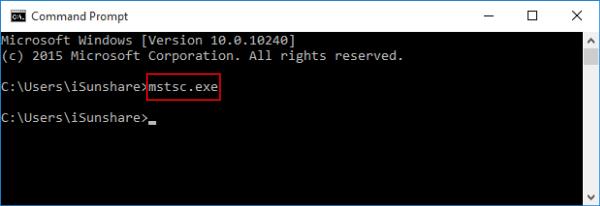 open-remote-desktop-connection-via-cmd