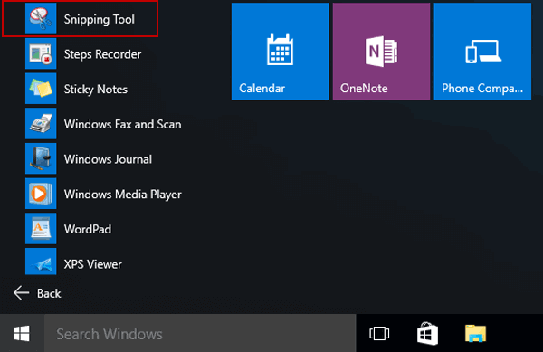 open-snipping-tool-in-start-menu