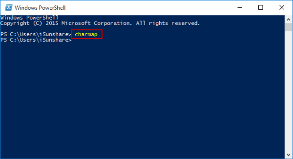 access-character-map-via-windows-powershell
