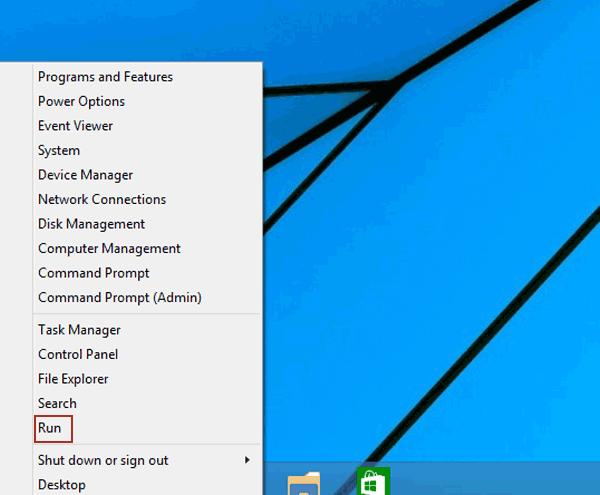choose-run-in-quick-access-menu