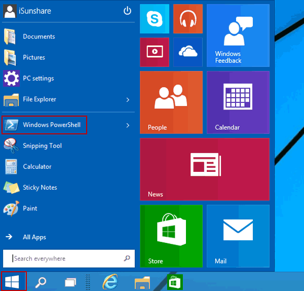 how to open windows start menu with keyboard
