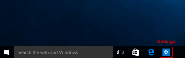 settings-on-taskbar