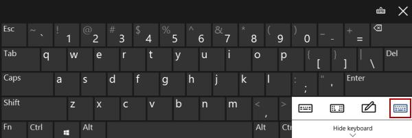 Add Standard Keyboard Layout to Touch Keyboard Options