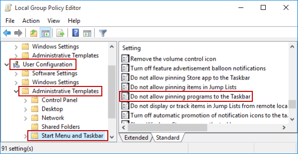 Cannot Pin Programs to Taskbar in Windows 10-What to Do