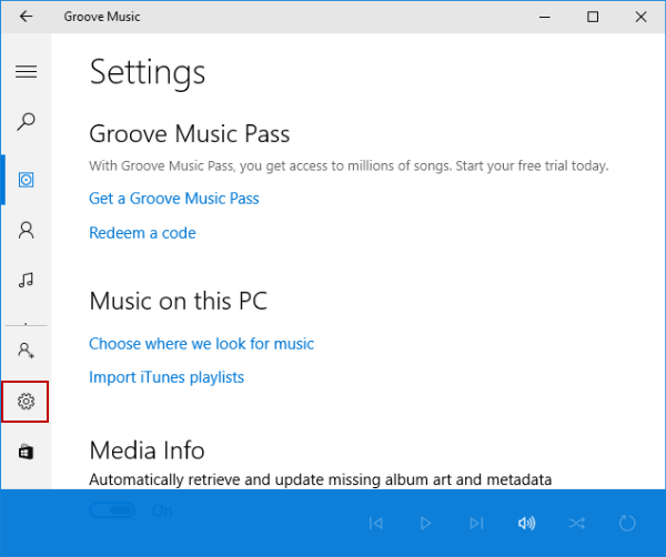 Change Background in Groove Music on Windows 10