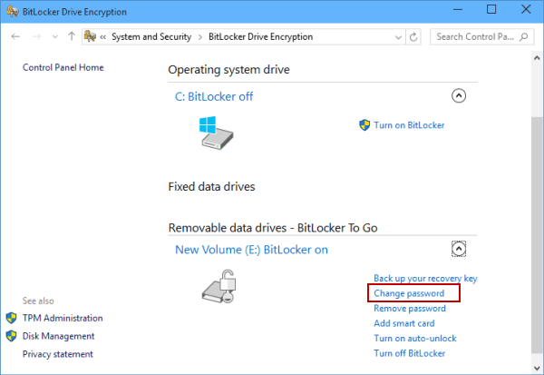 Change Hard Drive Password If Remember It in Windows 10