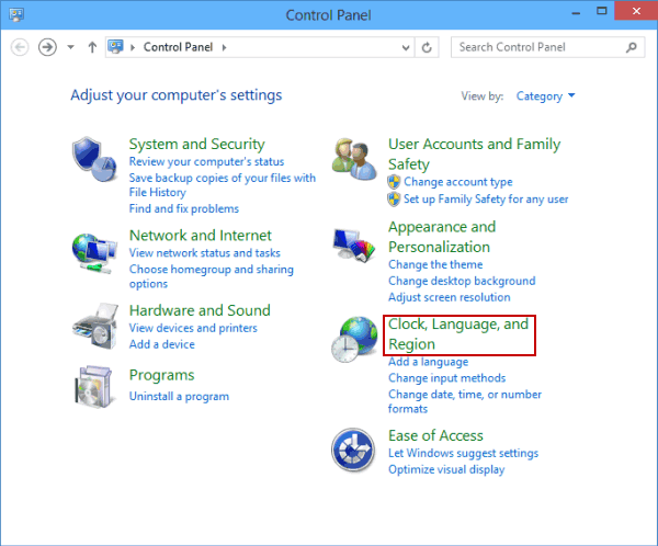 Change Key Sequence in Windows 10