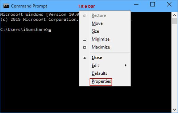 Change Screen Buffer Size of CMD in Windows 10