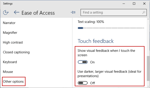 how to turn touchscreen on windows 10