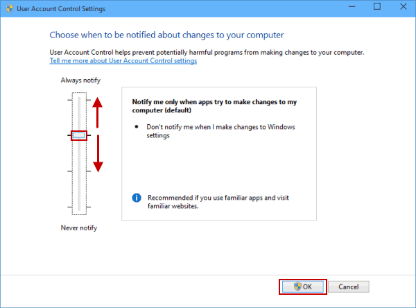 How to Change User Account Control Settings on Windows 10