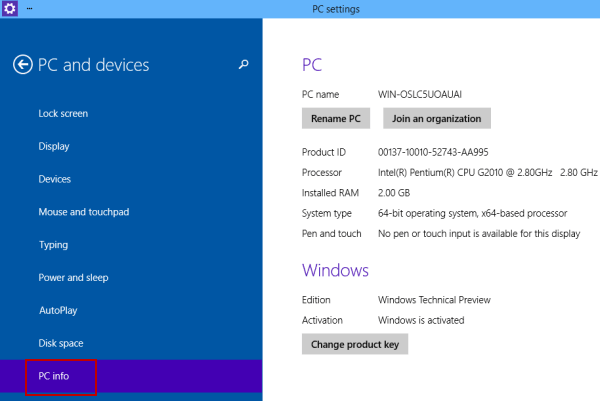 How to Check PC Info in Windows 10