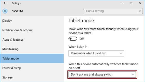 change-tablet-mode-setting