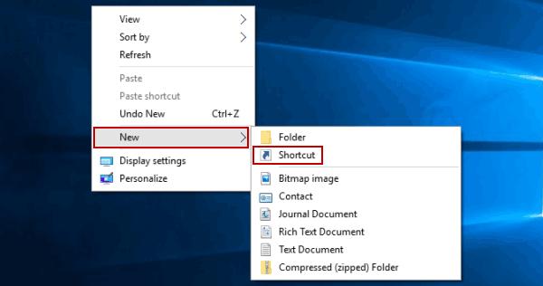 How To Create Lock Shortcut In Windows 10