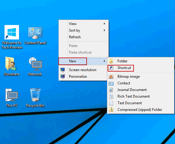 Create Narrator Shortcut on Windows 10 Desktop