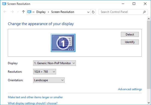 Create Screen Resolution Shortcut on Windows 10 Desktop