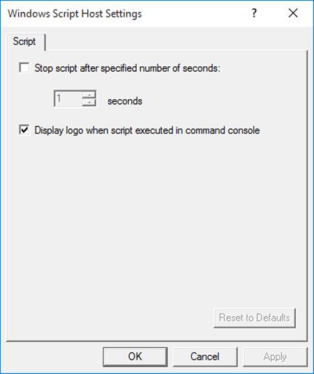 Create shortcut of windows script host settings on desktop ccuart Choice Image