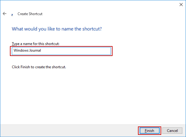name-windows-journal-shortcut