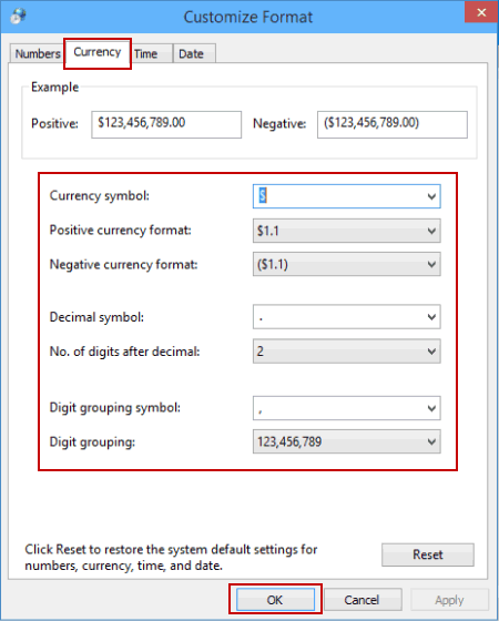 How To Customize Currency Format On Windows 10