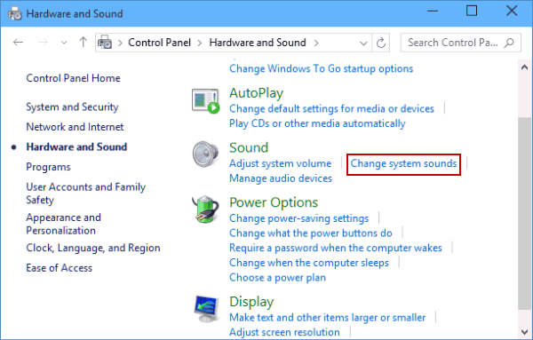 Customize Text Message Notification Sound in Windows 10