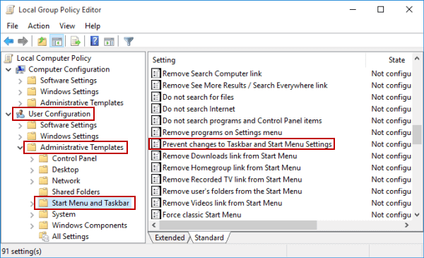 open-prevent-changes-to-taskbar-and-start-menu-settings