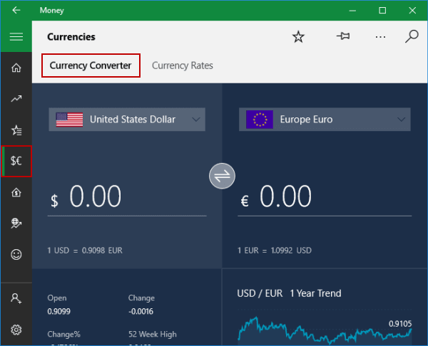Steps To Find Currency Converter In Windows 10 Money
