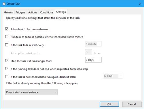make some settings