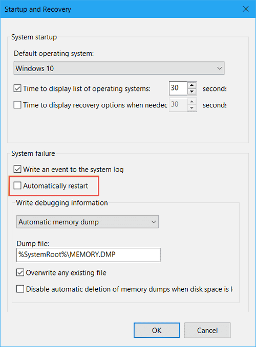 windows 10 automatic reboot schedule
