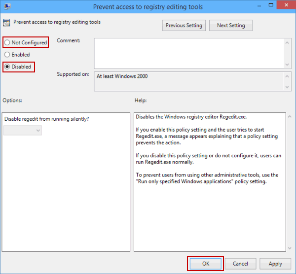 how to enable print screen in windows 10 through registry
