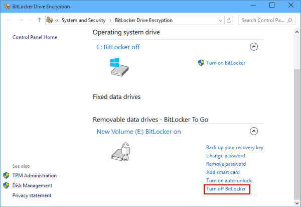 Remove Hard Drive Password If Remember It in Windows 10