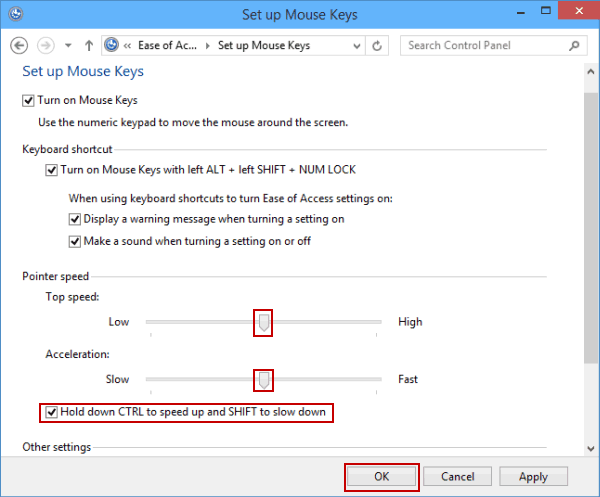 64cbb98b7dc Tip: Supposing that you change the pointer speed by moving the scales, you  will find that the pointer speed is changed accordingly by use of the  number keys ...